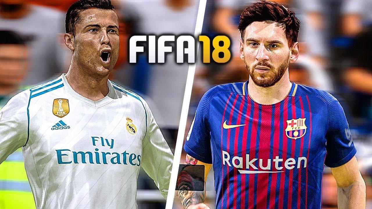 18 FIFA vs REAL 60FPS [1080p MADRID  BARCELONA Gameplay HD