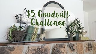 $5 GOODWILL CHALLENGE | SPRING 2017 | HOW TO STYLE A MANTLE