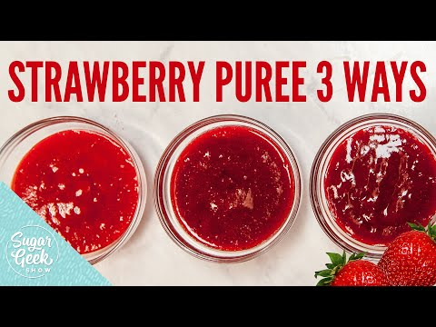 What do you use strawberry puree for?