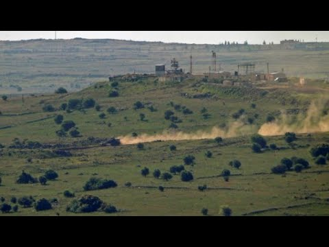 Israeli-Syrian Border After Western Powers Struck