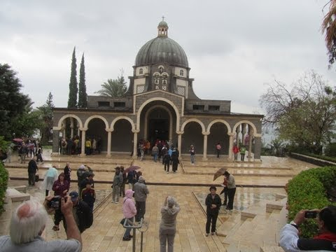 Church Of The Mount Of Beatitudes, Israel - The Sermon On The Mount. Tour Guide: Zahi Shaked