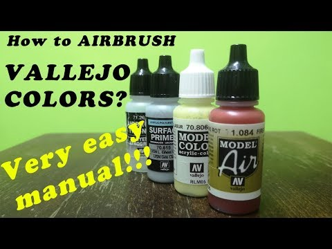 Test VALLEJO COLORS/How to airbrush...