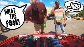 homepage tile video photo for Car Show Reactions to Rear wheel drive Honda Civic! (Hidden camera)