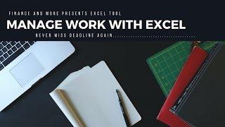 Excel Task Manager  and Excel task tracker for task management Video