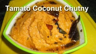How to Cook Tasty Tomato Coconut Breakfast Chutney .:: by Attamma TV ::.