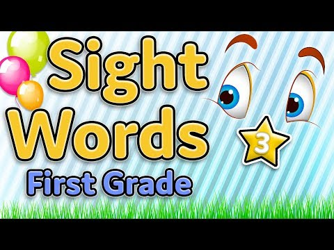 Sight Words - First grade Dolch list