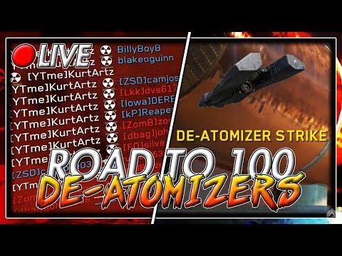 ROAD TO 100 NUKES LIVE! [Infinite Warfare Road to 100 De-Atomizer Strikes LIVE]