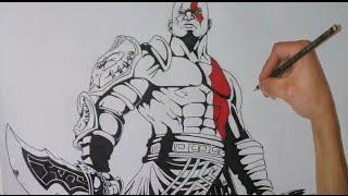 How to Draw Kratos - God of War