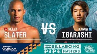 Kelly Slater vs. Kanoa Igarashi - Billabong Pipe Masters 2016 Semifinals
