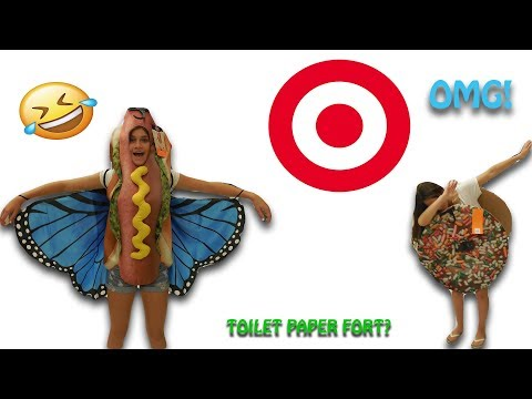 WALKING AROUND TARGET WITH FUNNY COSTUMES!!!