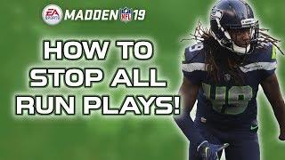 RUN DEFENSE - Stop ALL run plays - Madden 19 tips