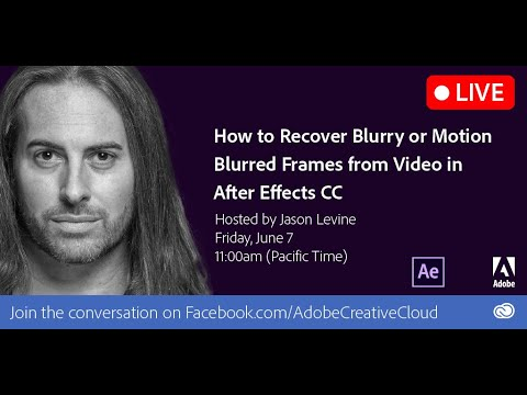 How to Recover Blurry/Motion-Blurred Frames in Video with After Effects