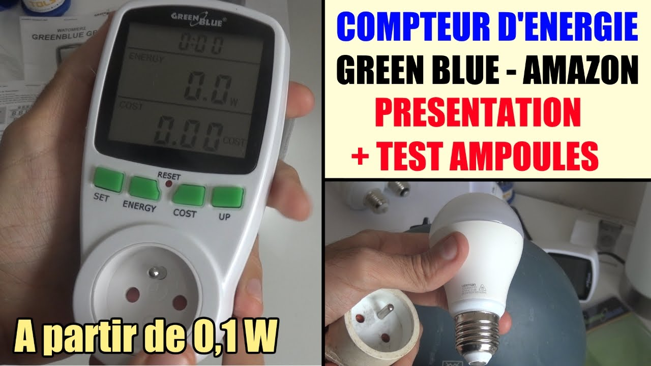 compteur de consommation lectrique amazon green blue gb202 test avis wattmetre youtube. Black Bedroom Furniture Sets. Home Design Ideas