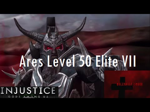 Injustice Gods Among Us iOS - Ares Promoted to Level 50 Elite VII