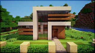 Minecraft: Construindo uma Pequena Casa Moderna 7