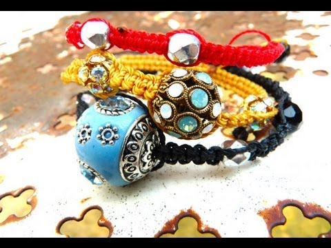 tutoriel diy comment faire un bracelet shamballa how to make a shamballa bracelet youtube. Black Bedroom Furniture Sets. Home Design Ideas