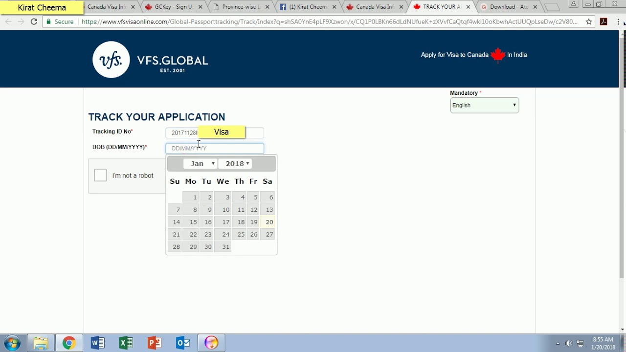Canada Student Visa Application status