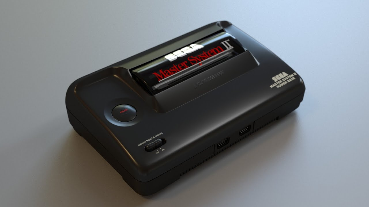 Blender timelapse sega master system ii youtube - Console sega master system 2 ...