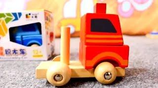 Kinderfilm - Wir packen Spielsachen aus - Spielzeug aus Holz
