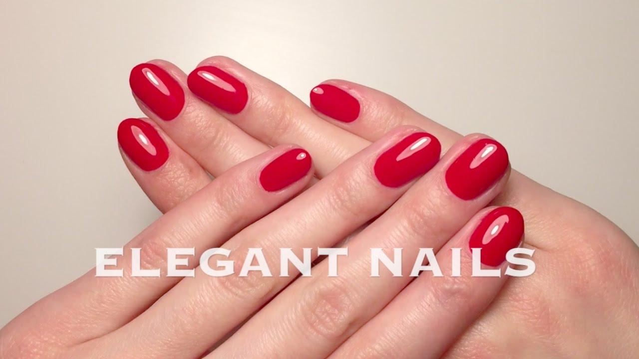 Eleganckie Czerwone Paznokcie Elegant Red Nails Youtube