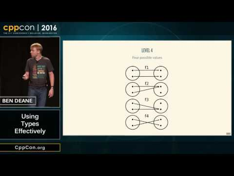 "CppCon 2016: Ben Deane ""Using Types Effectively"""