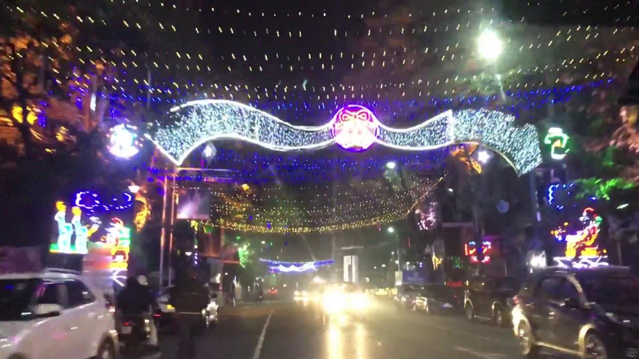 Park Street Kolkata During Christmas.Christmas 2017 Kolkata Park Street