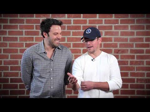 Ben Affleck & Matt Damon Take Shots at Each Other // Omaze