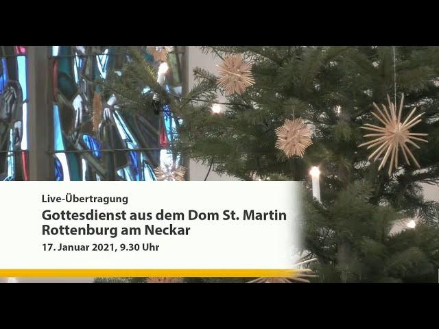 Liveübertragung des Gottesdienstes aus Rottenburg a.N.