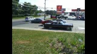 Pro-Street 69 Camaro leaving tread