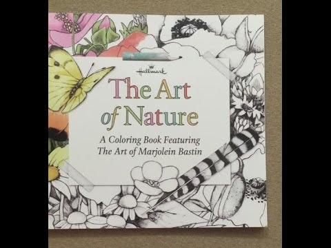 The Art of Nature - Marjolein Bastin Coloring Book flip through