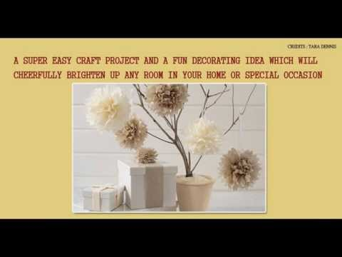 Home Decor Idea Tissue Paper Pom Poms Diy Crafts By