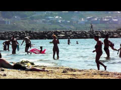 """Одесса, пляж, песня """"Черное море мое"""" / Odessa Beach, Ukraine"""