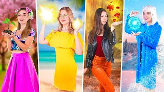 Four Seasons at College / Winter Girl, Spring Girl, Summer Girl and Autumn Girl