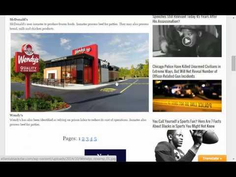 Blocking ads of companies using prison slave labor on Social Media