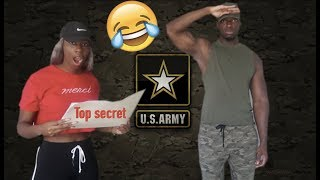 Joining the Army PRANK on Girlfriend! *We Both Cried*