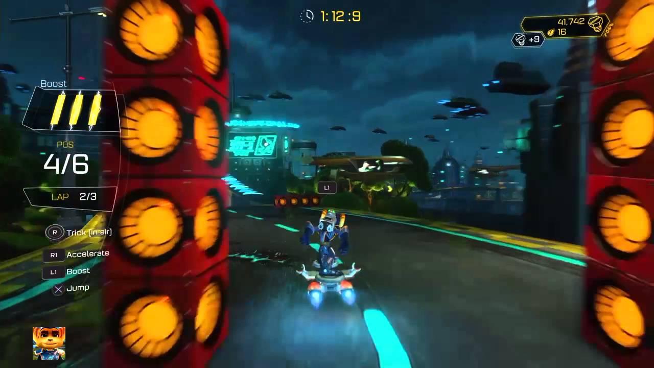 Ratchet Clank Ps4 Easy Win Any Hoverboard Race Youtube