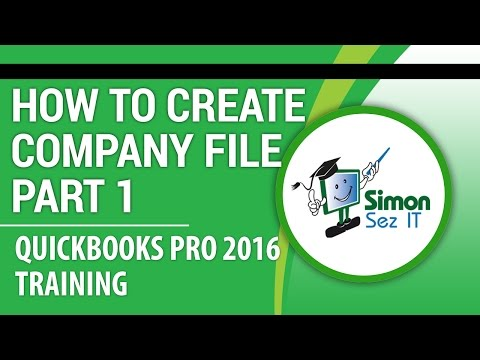 Quickbooks Pro Tutorial How To Create Your Company File