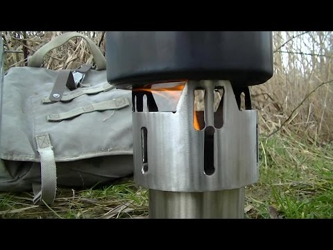 woodgas stove / gasifier - the folding version for backpacking DIY