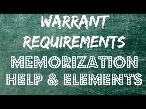 4th Amendment Warrant Requirement - Memorization & Help - Episode # 2