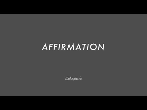 AFFIRMATION chord progression (no piano) - Backing Track Play Along Jazz Standard Bible 2