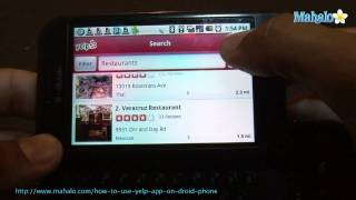 How to Use Yelp App on Droid Phone
