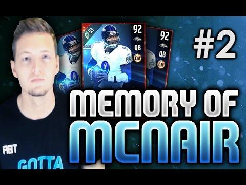 STEVE MCNAIR VS. STEVE MCNAIR! - Memory Of McNair #2 | Madden 17 Ultimate Team RTG