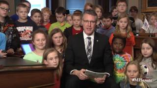 Sen. Proos speaks on the importance of March is Reading Month
