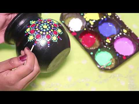 Dot mandala art ||  Easy pot painting