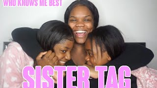 SISTER TAG WITH MY YOUNGER SISTERS    WHO KNOWS ME BEST ?   MISS RFABULOUS   SANFABULOUS