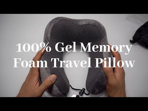 100% Gel Memory Foam Travel Pillow