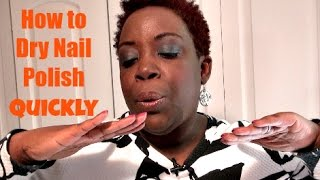 Nail Polish Tutorial Video: How to Dry Quick Nail Polish Quickly + Orly Sunset Strip Collection