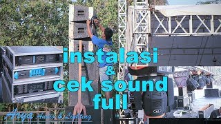 instalasi sound system sampai full ceksound - arya audio pati