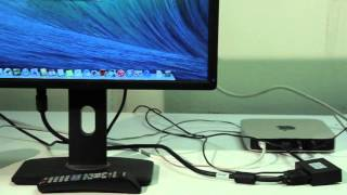 HDMI to VGA+Audio 1x2 Splitter (Sample Video) R013-CVT-102VA-P
