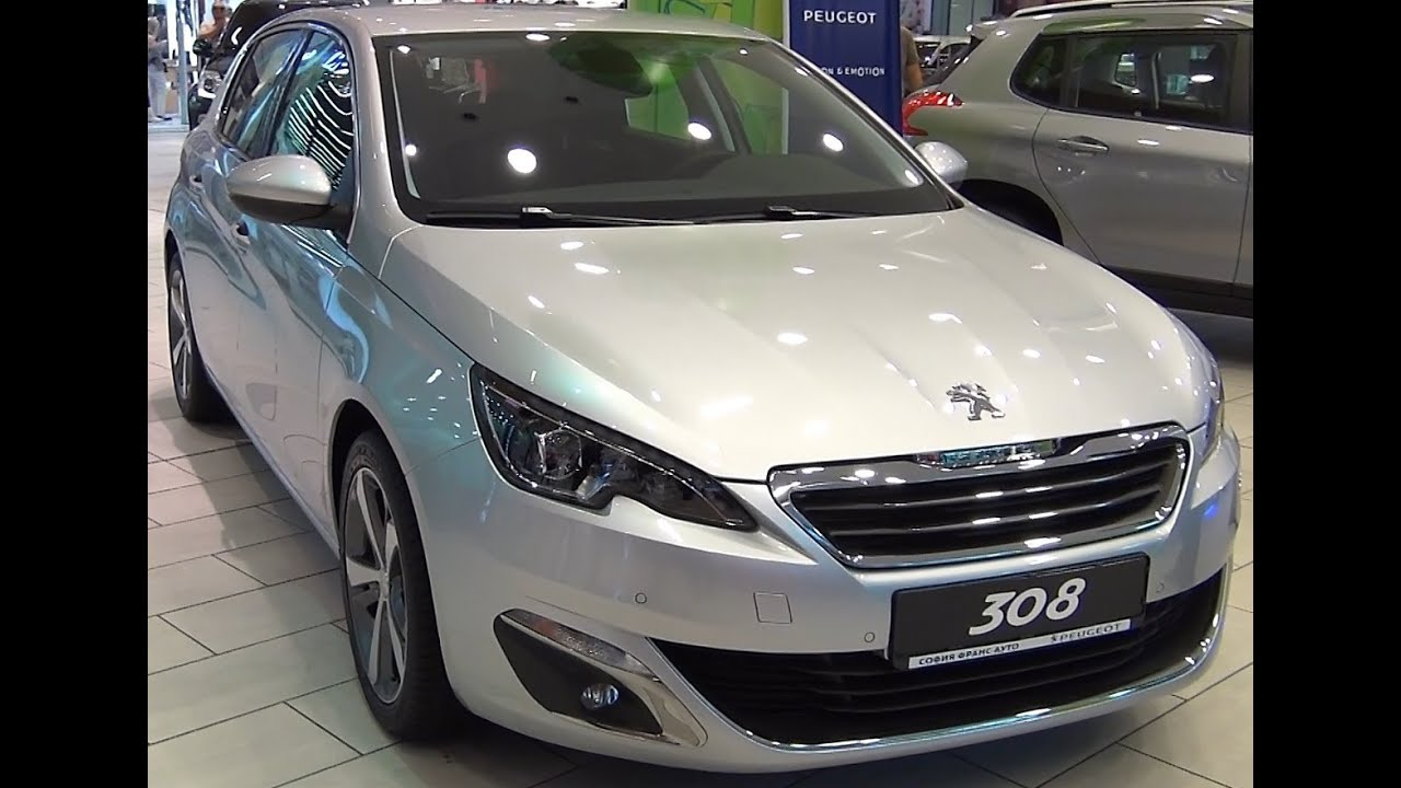 peugeot 308 allure 1 6 125 bvm6 thp second generation 2013 exterior and interior in full hd. Black Bedroom Furniture Sets. Home Design Ideas
